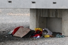 ALL AT SEA: A homeless person living under a seaside viewing platform in Napier. PHOTO/FILE