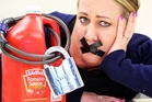 LOCKED UP: Jane Beamsley will give up tomato sauce for a month to raise money for the Cancer Society. PHOTO/STUART MUNRO