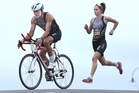 Father and daughter Max and Morgan Ball are heading to the World Duathlon Championship in Spain. Photo / John Borren