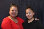 Brenda Wainohu (left), with daughter Summahr, 16, said she wanted the 2016 Budget to put families first. Photo / Duncan Brown