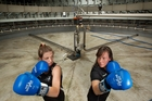 Renee Tremain (left) and Lucy Little are ready to fight on Saturday night. Photo / Ben Fraser