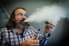 SMOKEFREE: When people kick smoking they can still enjoy inhaling flavour through vaping, says Hawke's Bay Vapour owner Michael Brader. PHOTO/WARREN BUCKLAND