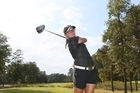 Waipawa's Lucy Owen at a tournament in the United States where, thanks to a scholarship renewal, she will continue to be based for the next year.