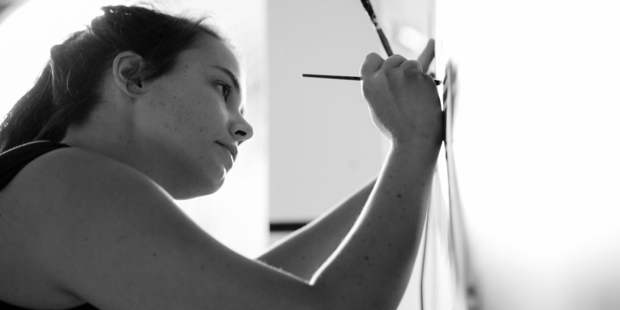 LETTER PERFECT: Kate Hursthouse, who will teach a hand-lettering workshop at Space Gallery this weekend. PHOTO/SUPPLIED