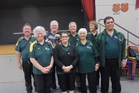 The Owhata Indoor Bowls team, Alan Gordon (back left), Derek Owen, Wayne Hitchens, Brian Flett; Delwyn Hughes (front left), Gina Owen, Christina Kingi, James Schuster.