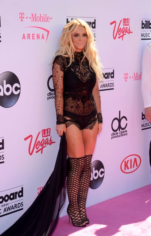 Britney Spears on the red carpet at the Billboard Music Awards. Photo / AFP