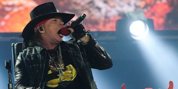 US singer Axl Rose is completing the tour with AC/DC. Photo / AFP
