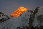 Mt Everest is seen from the way to Kalapatthar in Nepal. Photo / AP
