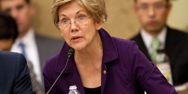 Senator Elizabeth Warren in Washington. Photo / AP