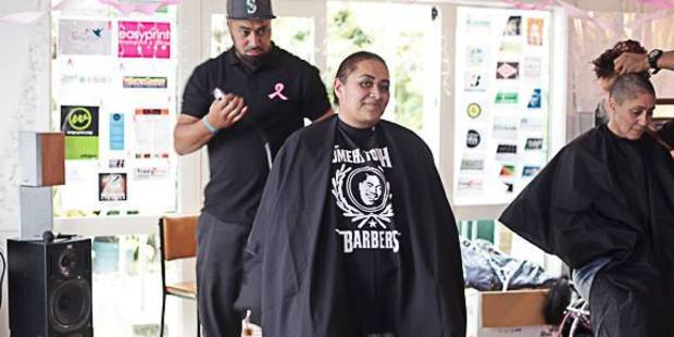 Tania Whanau shaved her head alongside nine of her friends to raise funds for her battle against breast cancer. PHOTO/Supplied.