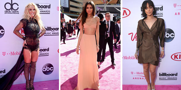 Britney Spears was up to her old tricks, Zendaya looked fresh in peach while Rihanna's outfit was a flop. Photo / Getty