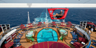 Carnival Vista's SkyRide offers a novel way to exercise. Photo / Supplied