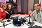 Jim Kayes, Verity Johnson and Paul Henry farewelled Hilary Barry from The Paul Henry Show today. Photo/Twitter