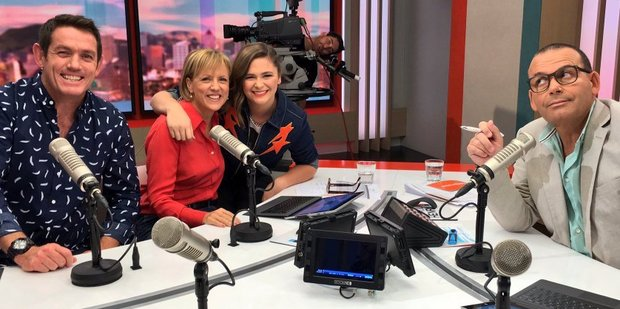 Loading Jim Kayes, Verity Johnson and Paul Henry farewelled Hilary Barry from The Paul Henry Show today. Photo/Twitter