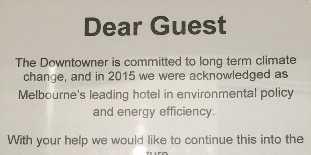 """My hotel is all for climate change,"" says Andrew Robertson."
