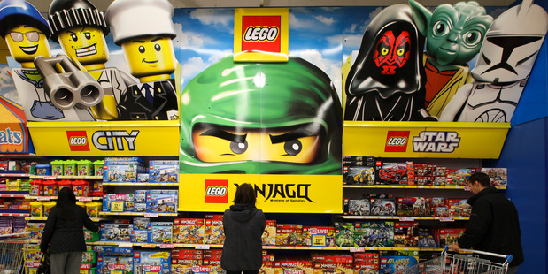 Violence of products featured in Lego catalogues has increased 19 per cent every year from 1978 to 2014. Photo / Getty
