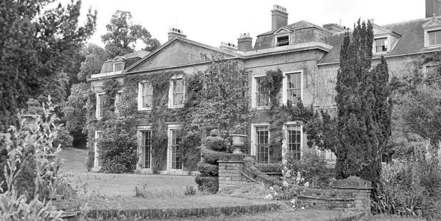 The original stately home that stood at Sunninghill Park, near Windsor, before it was destroyed in a fire in August 1947.