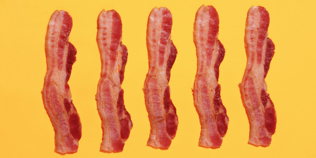 Bacon. About as bad for you as a spot of sunshine. Photo / Getty