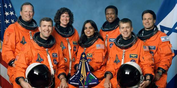 The crew of Space Shuttle Columbia, who died when the shuttle exploded on re-entry. Photo / Getty Images