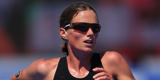 Nicky Samuels competes in the Women's Triathlon at the 2014 Commonwealth Games. Photo / Getty Images