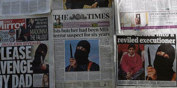 'Jihadi John' who was unmasked as Mohammed Emwazi grew up in the same part of London as  El Shafee Elsheikh. Photo / Getty
