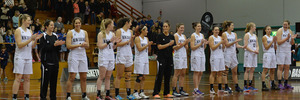 The Tall Ferns and Japan before a game in 2015. Photo / Getty Images