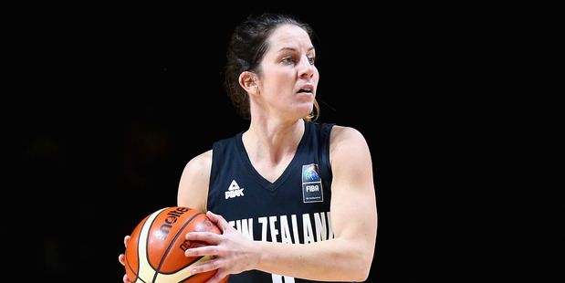 Micaela Cocks of the Tall Ferns looks to make a pass. Photo / Getty Images