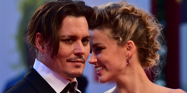 Johnny Depp and Amber Heard. Photo / Getty Images