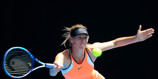 Maria Sharapova during her Australian Open quarterfinal match against Serena Williams. Photo / Getty Images