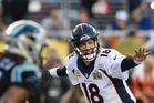 Quarterback Peyton Manning of the Denver Broncos during Super Bowl 50. Photo / Getty Images