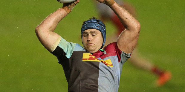 Former Wallabies captain James Horwill in action for London-based Harlequins earlier this year. Photo / Getty Images