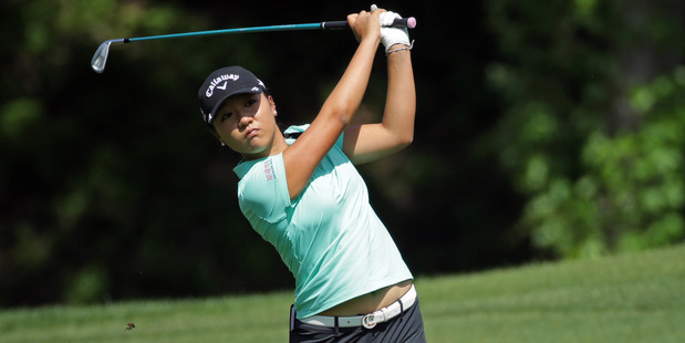 Lydia Ko hits a shot during the second round of the Kingsmill Championship. Photo / Getty Images