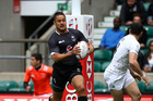 Jarryd Hayne in action for Fiji against England during the London Sevens at Twickenham. Photo / Getty Images