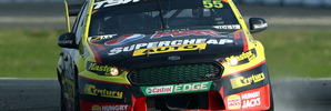 Chaz Mostert drives the #55 Supercheap Auto Racing Ford at Winton Raceway. Photo / Getty Images