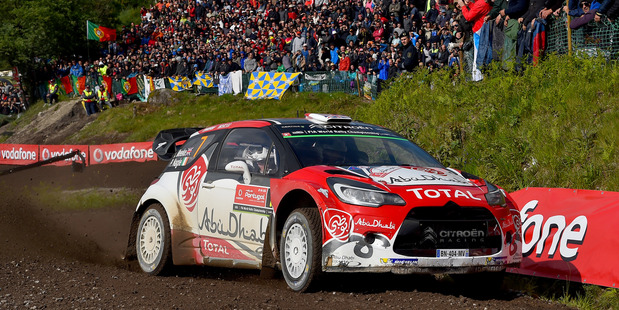 Kris Meeke during Day Three of the WRC Portugal on May 22. Photo / Getty Images