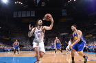 Steven Adams takes the ball during the NBA Finals match between the Oklahoma City Thunder and the Golden State Warriors. Photo / Getty Images