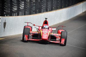 Scott Dixon drives during practice at the Indianapolis Motorspeedway. Photo / Getty Images