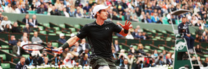 Andy Murray plays a shot during the 2016 French Open. Photo / Getty Images
