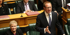 Labour leader Andrew Little delivers his response during the 2016 Budget presentation at Parliament. Photo / Getty Images