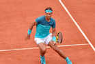 Rafael Nadal in action during his men's single match against Facundo Bagnis. Photo / Getty Images