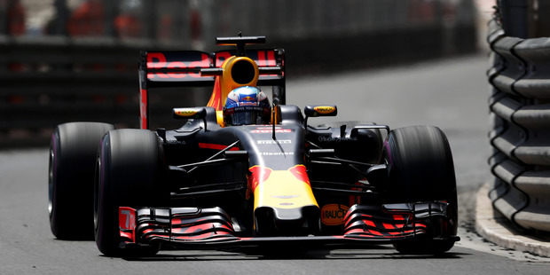 Daniel Ricciardo on track during practice for the Monaco Formula One Grand Prix. Photo / Getty Images