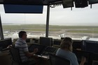 Inside the air traffic control tower at Auckand Airport. Photo / Grant Bradley