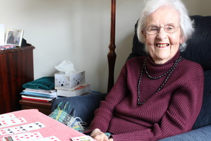 FULL LIFE: Thelma McLean, who is about to turn 105, enjoys playing the card game patience most days.