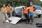 Waste collected by volunteer rangers in the Horohoro Forest Area this week.  Photo/Supplied