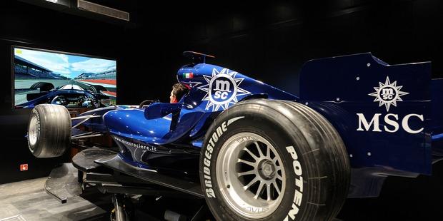 MSC Cruises' F1 Simulator. Photo / Supplied