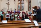 FLOURISHING: The Schola SacraYouth Chorus singing in the Jane Winstone Chapel. PHOTO: SUPPLIED