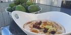 Bircher muesli with feijoa.