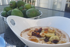 Bircher muesli with feijoa.