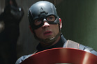 Actor Chris Evans stars as Captain America in a scene from the movie Marvel's Captain America: Civil War.