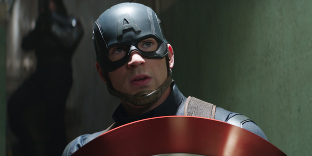Loading Actor Chris Evans stars as Captain America in a scene from the movie Marvel's Captain America: Civil War.